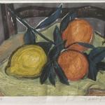 ΠΟΡΤΟΚΑΛΙΑ  Έγχρωμη ξυλογραφία, 24 x 32 εκ., 1959