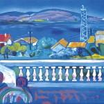 ΒΕΡΑΝΤΑ ΣΤΟΝ ΚΟΡΙΝΘΙΑΚΟ Έγχρωμη λιθογαφία, 47,5 x 68 εκ., 1984