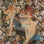 ΝΥΜΦΕΣ ΚΑΙ ΣΑΤΥΡΟΣ, ΠΑΡΑΛΛΑΓΗ ΑΠΟ ΤΟ ΕΡΓΟ ΤΟΥ ΜΠΟΥΓΚΕΡΩ Λάδι σε μουσαμά, 150 x 140 εκ., 2005