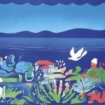 ΑΠΟΒΡΑΔΟ ΣΤΟ ΜΕΣΣΗΝΙΑΚΟ Έγχρωμη λιθογραφία, 47 x 62 εκ., 1986