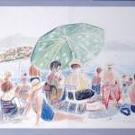 ΠΑΡΑΘΑΛΑΣΣΙΟ 1986 Παστέλ σε μουσαμά, 29 x 40 εκ., 1986