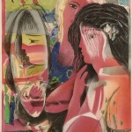 ΔΥΟ ΓΥΝΑΙΚΕΣ Λάδι σε μουσαμά, 70 x 53 εκ., 2006