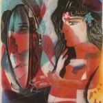 ΣΤΟΝ ΚΑΘΡΕΠΤΗ Λάδι σε μουσαμά, 70 x 50 εκ., 2006