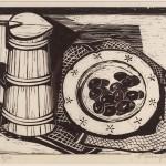 ΚΑΝΑΤΙ ΞΥΛΙΝΟ  Ξυλογραφία, 28 x 38,5 εκ., 1959