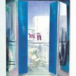 ΜΠΑΛΚΟΝΟΠΟΡΤΑ Ζωγραφική με φως, 120 x 85 εκ., 1976