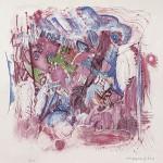 ΣΥΝΘΕΣΗ Έγχρωμη λιθογραφία, 42 x 49 εκ., 1963